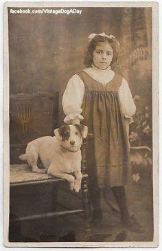 Girl and super, cute dog.