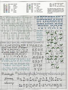 20 backstitch alphabet cross stitch 1
