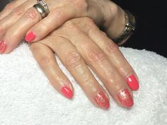 """CND Shellac """"Tropix"""" with MoYou stamping with Barry M gold effects polish."""