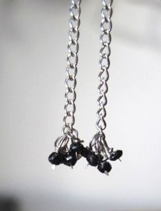 Hand Faceted Black Diamond Earrings by Created2Inspire on Etsy, $50.00