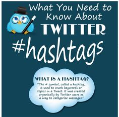 What Teachers Need to Know about Hashtags #socialmediaeducation