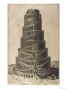 Tower of Babel (Giclee print) برج بابل  ( التوراة نسخه جكلي )
