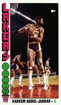 Kareem Abdul-Jabbar Los Angeles Lakers Showtime Lakers, Kentucky Colonel, Kareem Abdul Jabbar, Nba Stars, Basketball Cards, Captain Hook, Los Angeles Lakers, Lebron James, Hockey