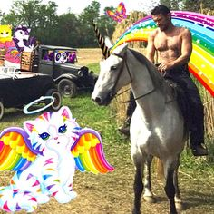 James Franco. On a unicorn. Bless. Probably the greatest picture in the whole wide world!