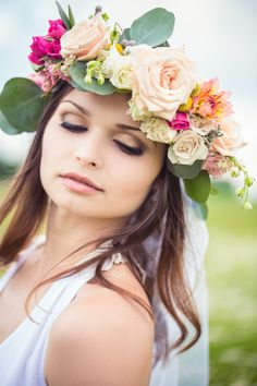 Bohemian Floral Crown Bridal Shoot Inspired By The Civil Wars | Fab You Bliss
