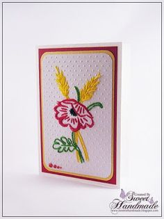 Paper Embroidery - Poppy