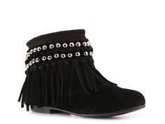 Rebels Coral Fringe Bootie Boots