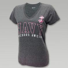 Navy Women's Mia V Neck T