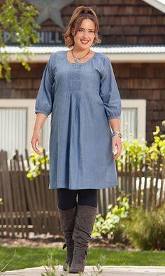 MELANIE TUNIC DRESS / MiB Plus Size Fashion for Women / Fall Fashion / Plus Size Dress / http://www.makingitbig.com/product/5374
