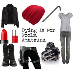 Red Hood/Jason Todd, created by favourite-fictional-fashions on Polyvore      YESYESYESYESYESYES