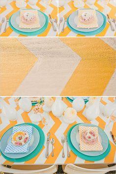chevron wedding table