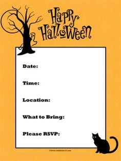 Free printable Halloween party postcard invitations. | Halloween ...