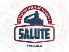 Salute Logo by Creatiph Market on Badge Template, Logo Templates, Music Festival Logos, Crest Logo, Portfolio Logo, Construction Logo, Two By Two, Image, Creative