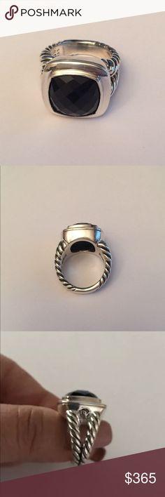 authentic david yurman albion ring 14mm bonyx