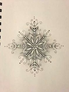 snowflake zentangle - Google Search