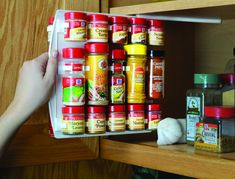 """SpiceStor Pull out Slide in Spice Rack Organizer 40 Clip 10.75""""D x 10.25""""H - Spice Storage Solutions"""