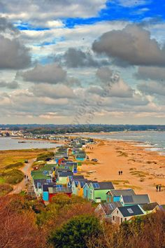 Hengistbury Head and Beach Huts landscape photograph picture print by AE Photo #dorset #landscapephotography #art