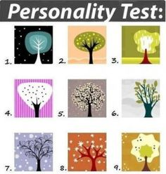 Personality test describes the kind of person you are solely on which tree appeals to you the most.