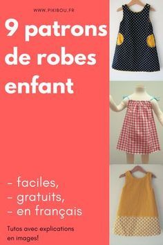 We have compiled for you 9 tutorials of dresses for little girls, easy, . Crochet Baby Boy Hat, Crochet Baby Cardigan, Baby Boy Hats, Coin Couture, Baby Couture, Couture Sewing, Sewing For Kids, Baby Sewing, Little Girl Dresses