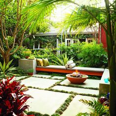 Tropical and modern, designed by Russ Cletta