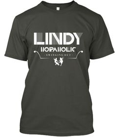 Ltd Edition: Lindy Hopaholic Smoke Gray T-Shirt Front
