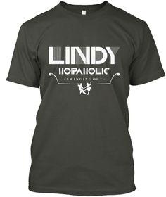 Ltd Edition: Lindy Hopaholic Smoke Gray T-Shirt Front