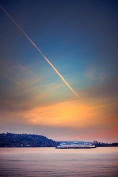 A Ferry Ride at Sunset | Puget Sound