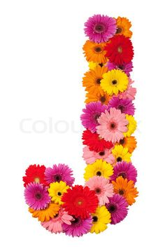 S Alphabet In Flowers ... The Letter J on Pinterest | Letter J, Drop Cap and Alphabet Letters