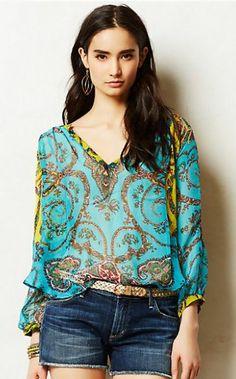KAS New York sheer blouse