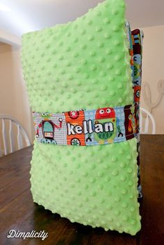 SImple Nap Mat Kindermat Cover Tutorial with Strap