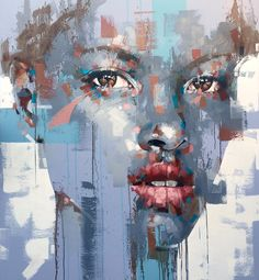 """WHO: Jimmy Law WHAT: """"The Dreamer LDN"""" WHY: I love the colours in his work, and the way he uses a mix of broken colour and detail to highlight certain areas of the portrait. Painting Inspiration, Art Inspo, Jimmy Law, Smoke Painting, Art Portfolio, Portrait Art, Face Art, African Art, Figurative Art"""