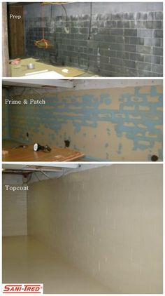 Sani-Tred is a Basement Waterproofing Sealing System which retains negative hydrostatic pressure and stops water entry, humidity, and mildew odor problems. Click picture to learn more!