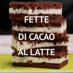 Fette di cacao al latteMILK COCOA SLICES are a tasty snack! Gourmet Recipes, Sweet Recipes, Cake Recipes, Dessert Recipes, Cooking Recipes, Campfire Desserts, Frozen Desserts, Summer Desserts, Campfire Cupcakes