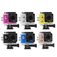 EK7000 2.0 Inch Screen 170 Degree Waterproof HD Sports WiFi 16MP Action Camera DV Video Recorder