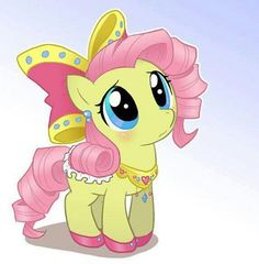 Fluttershy given a makeover by rarity