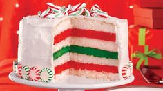 Here's the perfect festive dessert recipe for your holiday table – a Betty Crocker™ SuperMoist™ layered cake, that looks and tastes like Christmas peppermint candy.