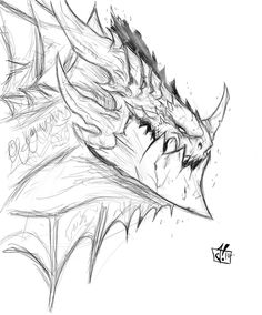Deathwing rough sketch by Jay--Zilla.deviantart.com on @deviantART