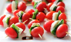Caprese Skewers for the 4th of July: Simple to make and fun to eat!