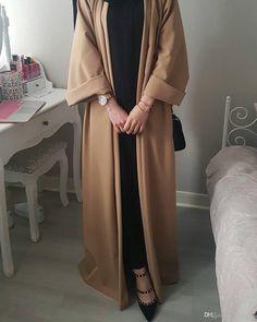2019 Muslim Dress Kaftan Kimono Bangladesh Robe Musulmane Islamic Clothing Caftan Marocain Turkish UAE Eid Gift Part Abaya Fashion, Muslim Fashion, Modest Fashion, Kimono Fashion, Fashion Dresses, Hijab Fashion Inspiration, Mode Inspiration, Hijab Elegante, Estilo Abaya