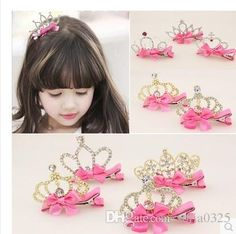Discount Girl Hair Clips Childrens Accessories Kid Princess Flower Hair Bows Korean Crown Barrettes Baby Hair Accessories Girls Hairbows From China | Dhgate.Com