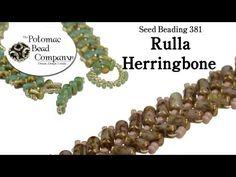 How to Make a Rulla Herringbone rope #Seed #Bead #Tutorials