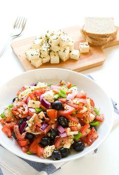 Ensalada griega vegana | danzadefogones.com #danzadefogones