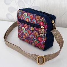 Mini Bag Decoli Diy Fabric Purses, Fabric Bags, Tote Backpack, Crossbody Bag, Diy Handbag, Denim Bag, Brown Bags, Cute Bags, Handmade Bags