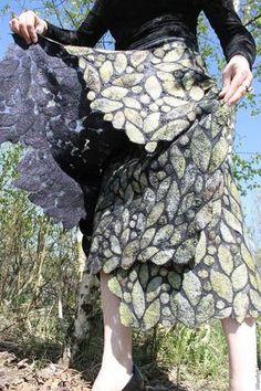 """Купить Юбка """"Осеннее настроение""""........ - алёна орлова, черный цвет, юбка длинная, юбка валяная"""