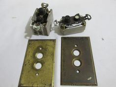 Push Button Light Switches and Brass Swithchplates by LuRuUniques on Etsy