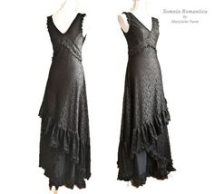 Dress Art Nouveau, black lace, edwardian, victorian, Somnia Romantica by Marjolein Turin