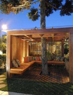 Backyard Patio Designs, Backyard Projects, Backyard Landscaping, Pergola Patio, Pergola Kits, Gazebo, Desert Backyard, Modern Pergola, Metal Pergola