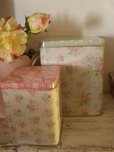 Greengate floral tins
