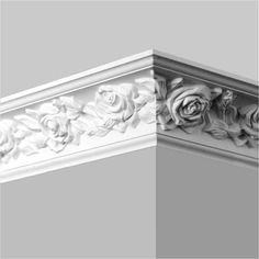 Foam Crown Molding, Diy Molding, Moldings, Decoration Faux Plafond, Pop Design For Roof, Gypsum Design, Cornice Design, High Ceiling Living Room, House Ceiling Design