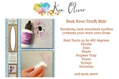 A must have for all crafters! Ken Oliver-The Best Ever Craft Mat. Protect your work surface while you create! This multi-purpose nonstick mat is heat resistant, easy to clean and reusable. Pick one up for 30% off at pickyourplum.com!